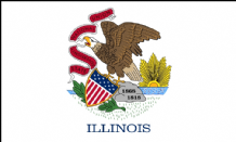 ILLINOIS - 5 X 3 FLAG